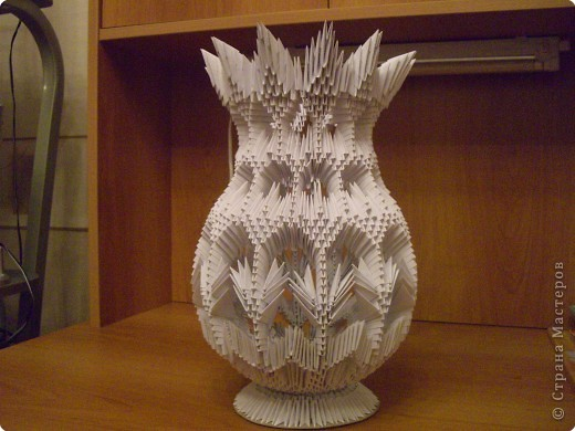 Модульное оригами. Ваза оригами. Схема ваза. Мастер-класс