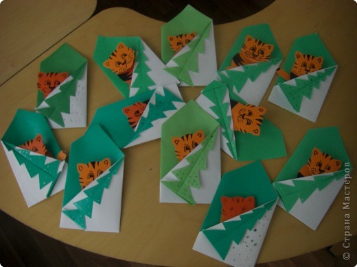 Поделка, изделие Оригами: Новогодние поделки Капрон Новый год.