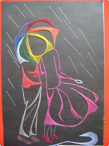 Вышивка крестом схемы-под дождем