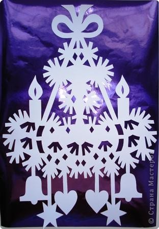Вырезание: Новогоднее украшение Бумага Новый год. Фото 1