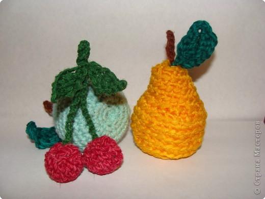 Игрушка Вязание крючком: Вязаные фрукты.  Пряжа.  Фото 2.