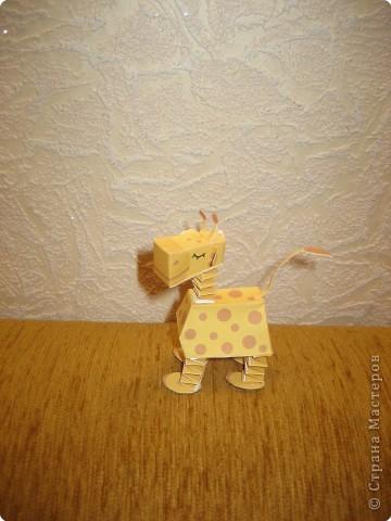 Игрушка Бумагопластика: Маленький жираф Бумага.  Фото 2.