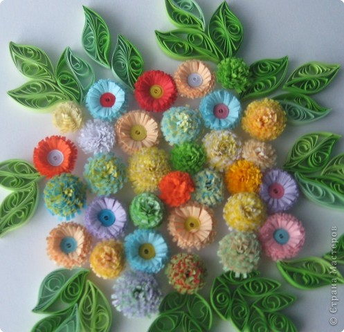 Мастер-класс Квиллинг: МК бахромчатые цветы Бумага. Фото 1