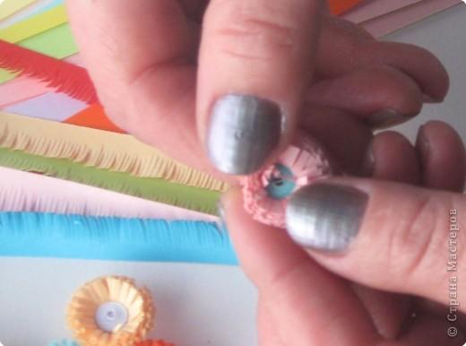 Мастер-класс Квиллинг: МК бахромчатые цветы Бумага. Фото 9