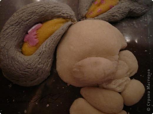 Мастер-класс Лепка: Мастер-класс по лепке зайчика Тесто соленое. Фото 17
