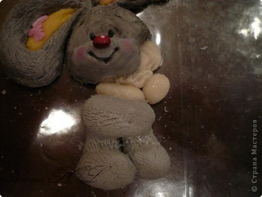 Мастер-класс Лепка: Мастер-класс по лепке зайчика Тесто соленое. Фото 25