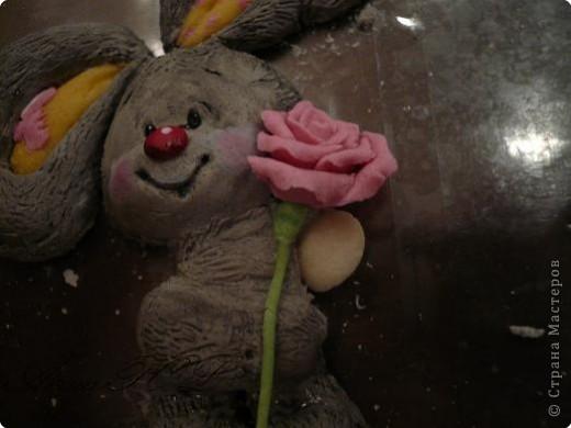 Мастер-класс Лепка: Мастер-класс по лепке зайчика Тесто соленое. Фото 26