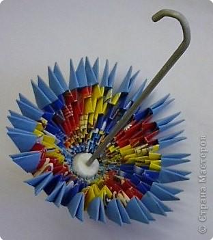 Мастер-класс Оригами модульное: МК ЗОНТИК. Модульное оригами. Бумага. Фото 2