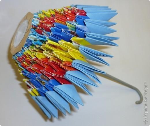 Мастер-класс Оригами модульное: МК ЗОНТИК. Модульное оригами. Бумага. Фото 1
