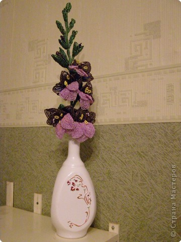 Бисероплетение: гладиолус.  Фото 5.