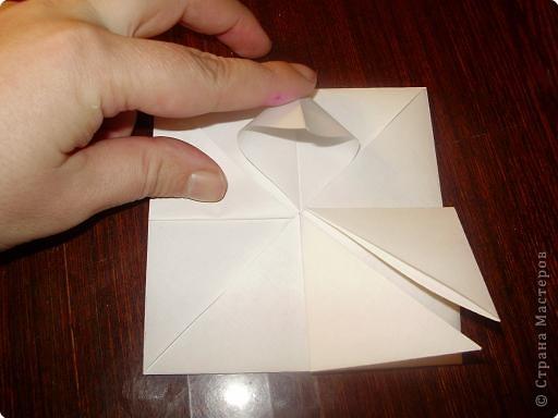 Мастер-класс, Открытка, Поделка, изделие Оригами: Открытка  Бумага Валентинов день, 8 марта, День рождения, Свадьба. Фото 7