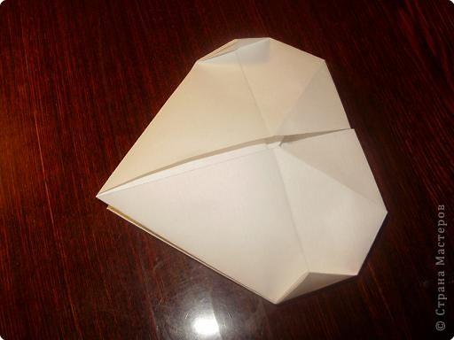 Мастер-класс, Открытка, Поделка, изделие Оригами: Открытка  Бумага Валентинов день, 8 марта, День рождения, Свадьба. Фото 10