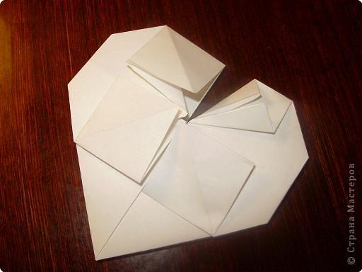 Мастер-класс, Открытка, Поделка, изделие Оригами: Открытка  Бумага Валентинов день, 8 марта, День рождения, Свадьба. Фото 11