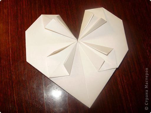 Мастер-класс, Открытка, Поделка, изделие Оригами: Открытка  Бумага Валентинов день, 8 марта, День рождения, Свадьба. Фото 12