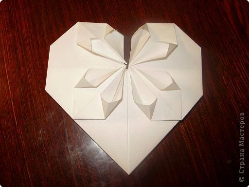 Мастер-класс, Открытка, Поделка, изделие Оригами: Открытка  Бумага Валентинов день, 8 марта, День рождения, Свадьба. Фото 13