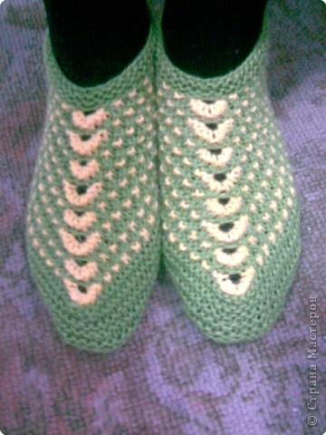Будь модной! модные вязаные тапочки