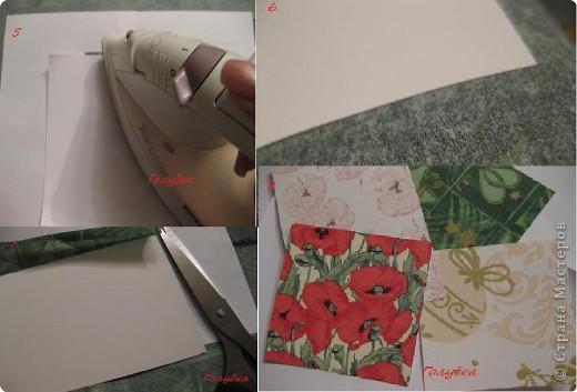 Открытка: Открытка с фоном из салфеток Бумага, Салфетки День рождения, Новый год. Фото 5