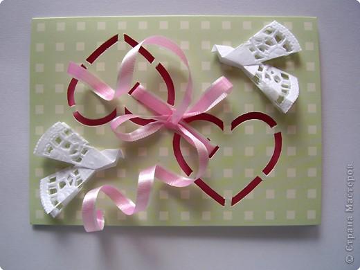 Вырезание: Открытка с сердечками - 1