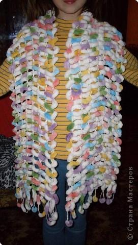 Мастер-класс Вязание спицами: Шарфик Нитки Отдых. Фото 5