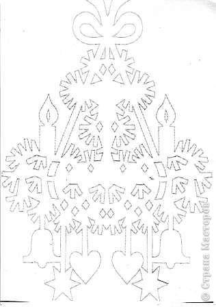 Вырезание: Новогоднее украшение Бумага Новый год. Фото 2