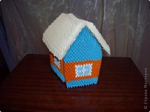 Мастер-класс Оригами модульное: Домик+МК Бумага. Фото 1