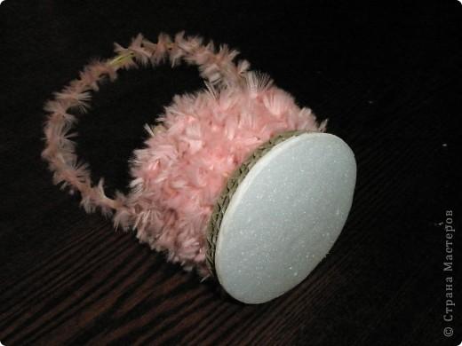 Мастер-класс Плетение: Мастер – класс «Подарочная корзинка»  Ткань 8 марта. Фото 12