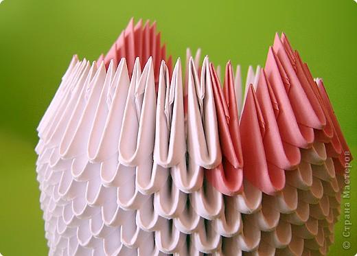 Мастер-класс Оригами модульное: Мастер-класс двойного лебедя Бумага. Фото 13