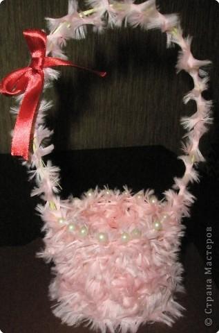Мастер-класс Плетение: Мастер – класс «Подарочная корзинка»  Ткань 8 марта. Фото 1
