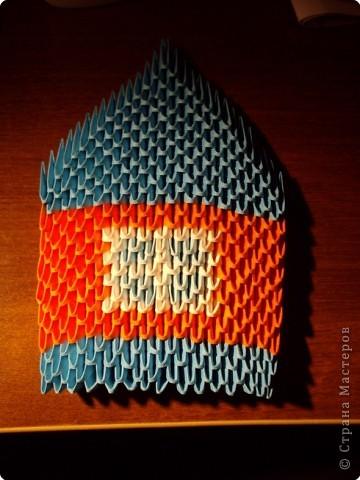 Модульное оригами схемы сборки домика