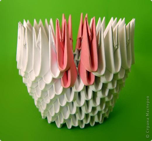 Мастер-класс Оригами модульное: Мастер-класс двойного лебедя Бумага. Фото 25