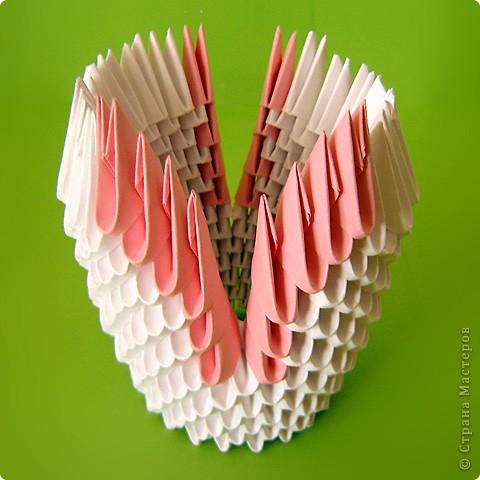 Мастер-класс Оригами модульное: Мастер-класс двойного лебедя Бумага. Фото 27