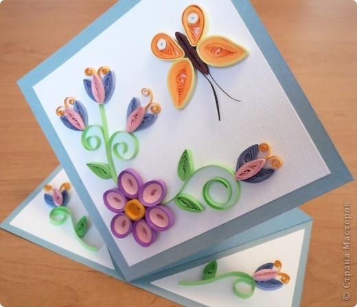 Квиллинг: Еще одна открыточка
