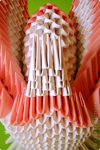 Мастер-класс Оригами модульное: Мастер-класс двойного лебедя Бумага. Фото 36