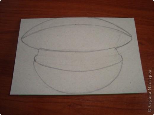 Как сделать из бумаги офицерскую кепку