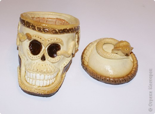 Лепка: Череп-шкатулка. Фото 1