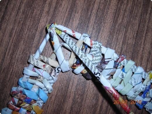 Плетение: Обещанный МК по плетению рамки из газеты.