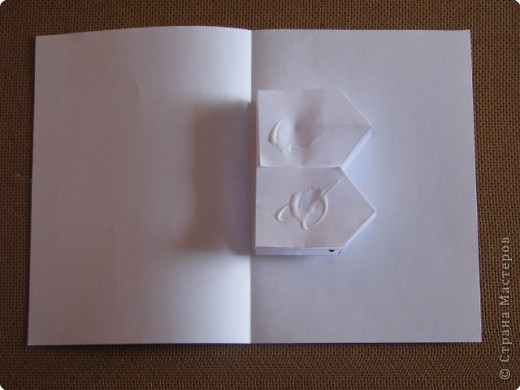 как сделать открытку ,с объёмным цветком,даже с самыми маленькими