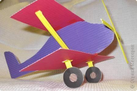 Поделки своими руками самолет из картона