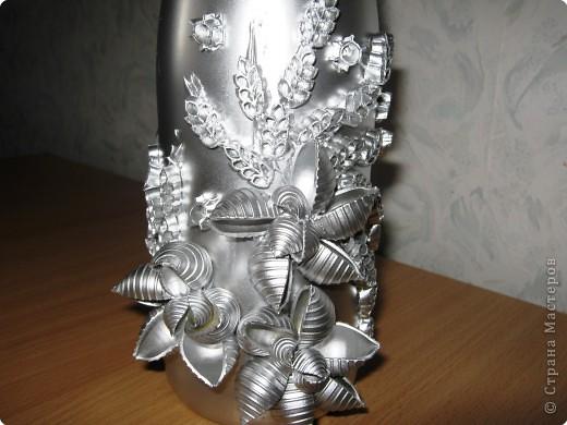 Декор предметов: І-вариант декорирования бутылок. Фото 3