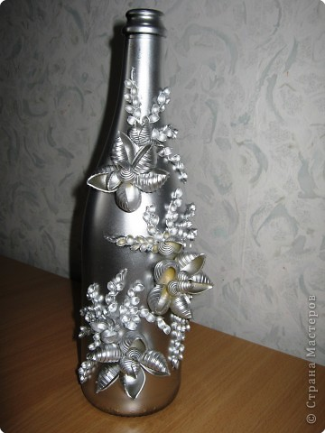 Декор предметов: І-вариант декорирования бутылок. Фото 4