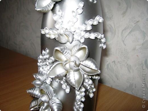 Декор предметов: І-вариант декорирования бутылок. Фото 5