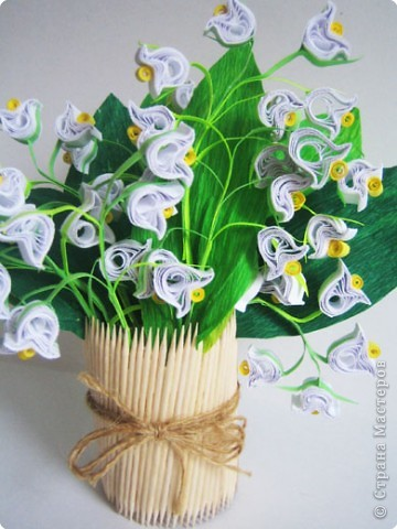 Весенние цветы квиллинг