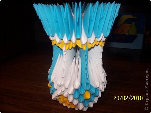 Поделка, изделие Оригами модульное: Ваза.  Бумага 8 марта.