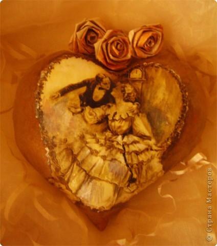 Декор предметов Декупаж: Ретро валентинки. Ткань Валентинов день. Фото 3