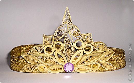 Поделка, изделие Квиллинг: Корона принцессы Бумага. Фото 1