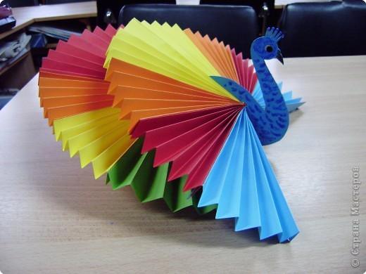 Поделки из бумаги-павлин