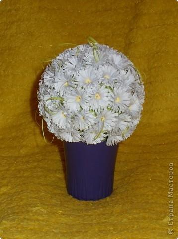 Декор предметов, Поделка, изделие Квиллинг: Раз ромашка, два ромашка 8 марта. Фото 1