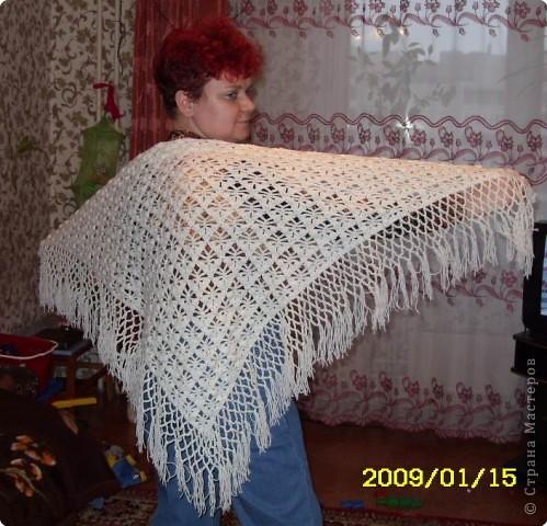 Видео вязания платка