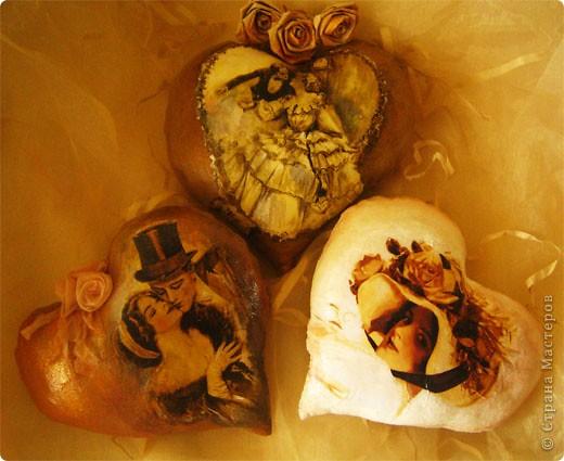 Декор предметов Декупаж: Ретро валентинки. Ткань Валентинов день. Фото 1