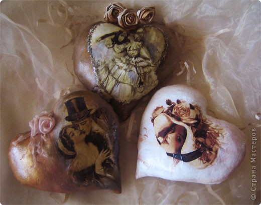 Декор предметов Декупаж: Ретро валентинки. Ткань Валентинов день. Фото 8